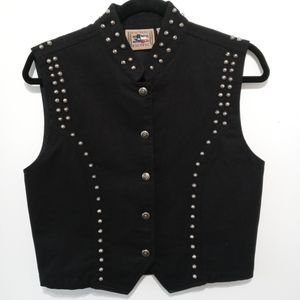 Don't Mess With Texas Metal Studded Women Vest M